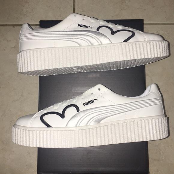 separation shoes 0ccb3 fce84 Rihanna Fenty Creeper ClaraLionel White Black Gold NWT